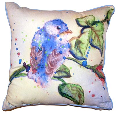 Camilla Bird Indoor/Outdoor Throw Pillow Size: 22 x 22