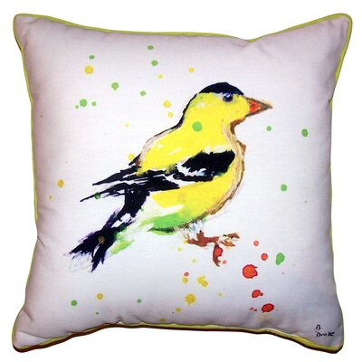 Lottie Goldfinch Indoor/Outdoor Throw Pillow Size: 18 x 18