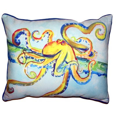 Kaylani Crazy Octopus Indoor/Outdoor Lumbar Pillow Size: 11 x 14