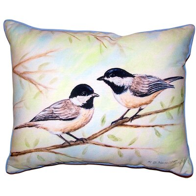 Lidia Chickadees Indoor/Outdoor Lumbar Pillow Size: 11 x 14
