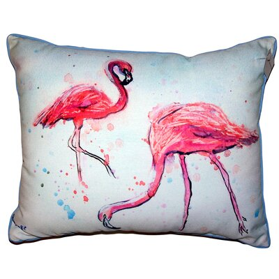 Pullman Flamingos Indoor/Outdoor Lumbar Pillow Size: 11 x 14