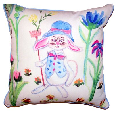 Catharine Mrs. Farmer Indoor/Outdoor Throw Pillow Size: 18 x 18