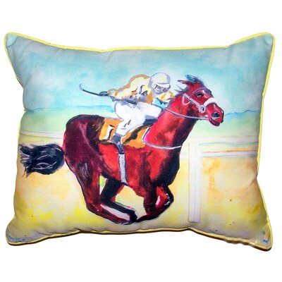 Madeira Airborne Horse Indoor/Outdoor Lumbar Pillow Size: 11 x 14