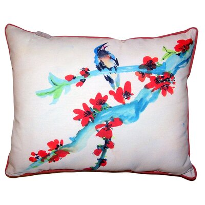 Grimsby Buds and Bird Indoor/Outdoor Lumbar Pillow Size: 11 x 14