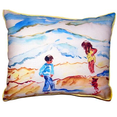 Chaliah Wading at the Beach Indoor/Outdoor Lumbar Pillow Size: 11 x 14