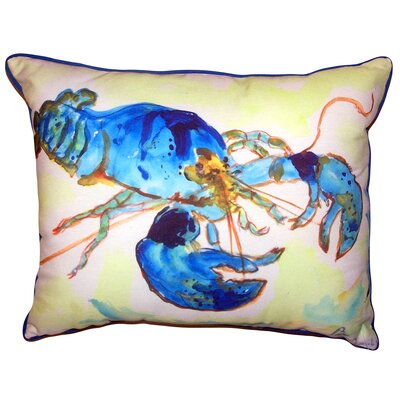 Michela Lobster Indoor/Outdoor Lumbar Pillow Size: 11'' x 14''