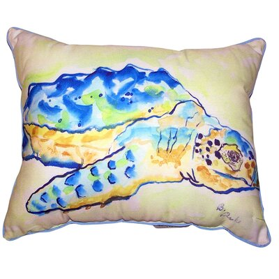 Tanna Loggerhead Turtle Indoor/Outdoor Lumbar Pillow Size: 16 x 20