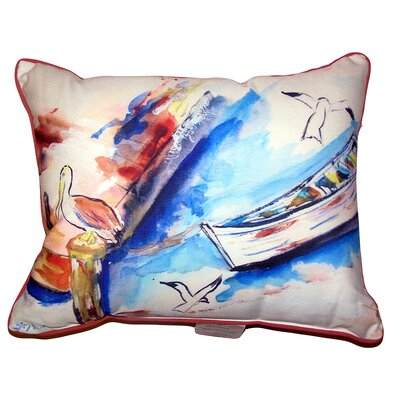Bradon Rowboat and Birds Indoor/Outdoor Lumbar Pillow Size: 16 x 20