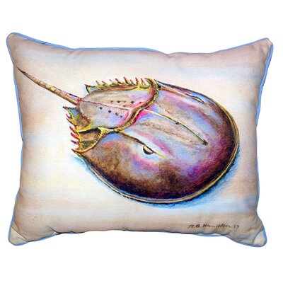 Shamus Horseshoe Crab Indoor/Outdoor Lumbar Pillow Size: 16 x 20
