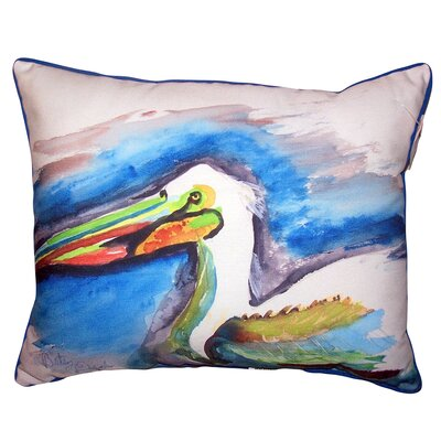 Demetri Pelican Head Indoor/Outdoor Lumbar Pillow Size: 16 x 20