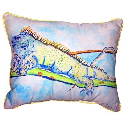 Elmwood Iguana Indoor/Outdoor Lumbar Pillow Size: 11 x 14