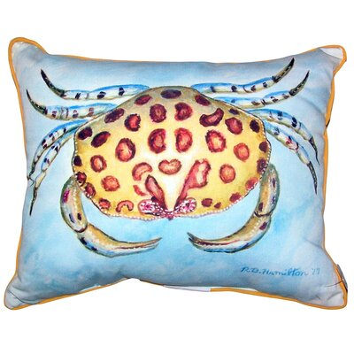 Sheelah Crab Indoor/Outdoor Lumbar Pillow Size: 20 x 24