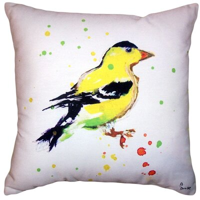 Aleyna Goldfinch No Cord Outdoor Throw Pillow