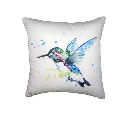 Alisier Hummingbird No Cord Outdoor Throw Pillow