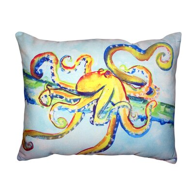 Andi Crazy Octopus No Cord Outdoor Lumbar Pillow