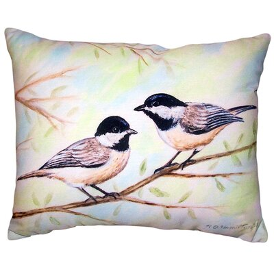 Alix Chickadees No Cord Outdoor Lumbar Pillow
