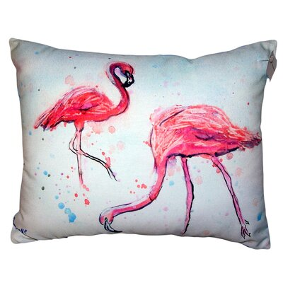 Larchwood Flamingos No Cord Outdoor Lumbar Pillow