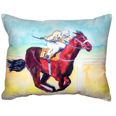 Malvern Airborne Horse No Cord Outdoor Lumbar Pillow
