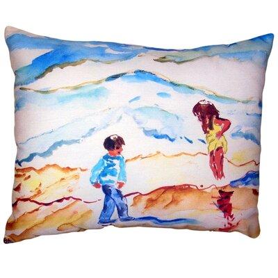 Macaulay Wading at the Beach No Cord Outdoor Lumbar Pillow