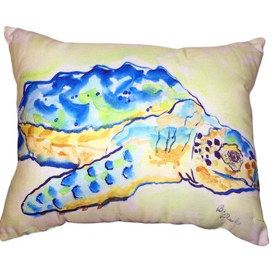 Calin Loggerhead Turtle No Cord Outdoor Lumbar Pillow
