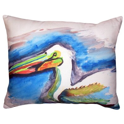 Drexil Pelican Head No Cord Outdoor Lumbar Pillow