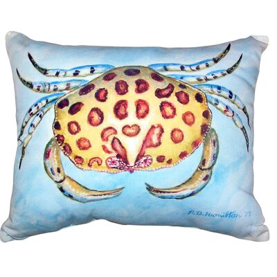 Devon Crab No Cord Outdoor Lumbar Pillow