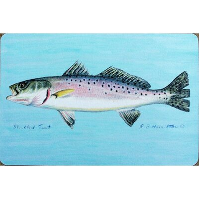 Coastal Speckled Trout Doormat Size: 18 H x 26 W