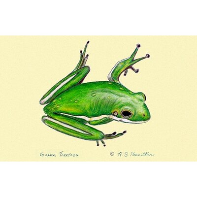 Coastal Tree Frog Doormat Mat Size: Rectangle 18 x 26