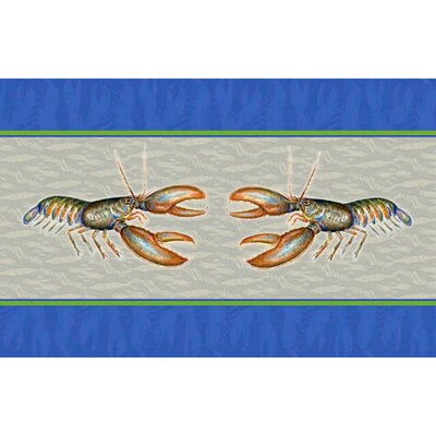 Coastal Lobster Doormat Size: 30 H x 50 W