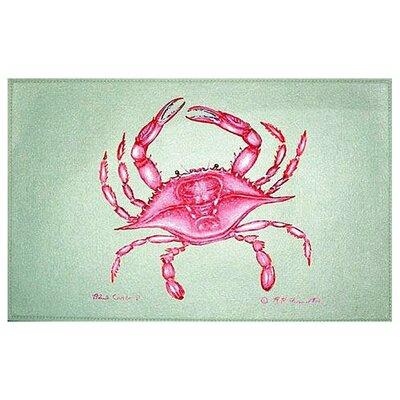 Coastal Crab Doormat Size: 18 H x 26 W