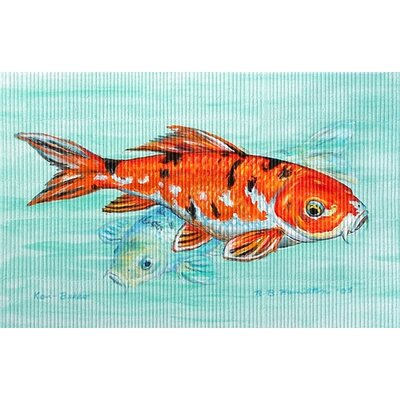 Coastal Koi Doormat Size: Rectangle 18 x 26
