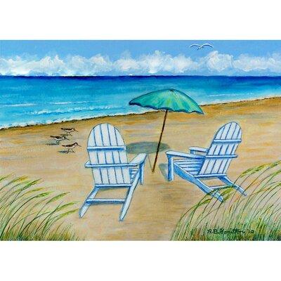 Garden Adirondack Chairs Doormat Size: 30 H x 50 W