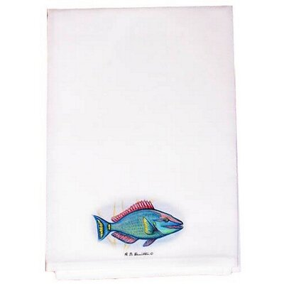 Coastal Parrot Fish Hand Towel (Set of 2)
