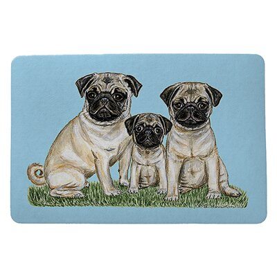 Pets Pugs Doormat Mat Size: Rectangle 18 x 26
