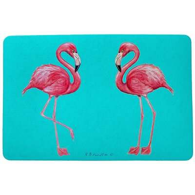 Coastal Flamingo Doormat Size: Rectangle 30 x 50