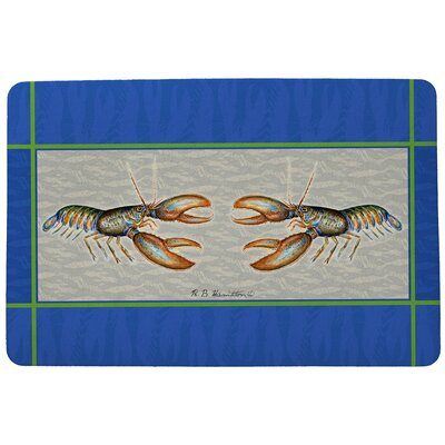 Coastal Lobster Doormat Mat Size: Rectangle 30 x 50