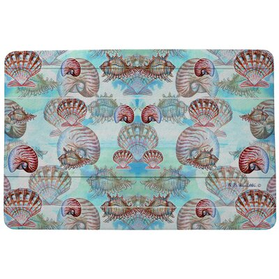 Coastal Shells Doormat Mat Size: Rectangle 18 x 26