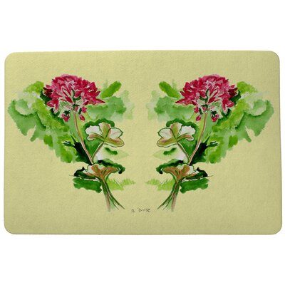 Garden Geraniums Doormat Mat Size: Rectangle 18 x 26