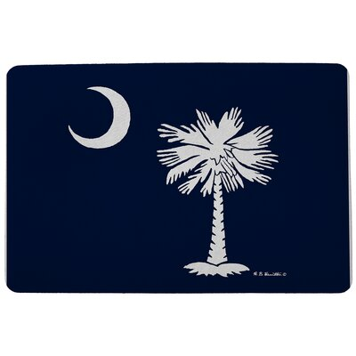 Coastal Palmetto Moon Doormat Size: Rectangle 18 x 26