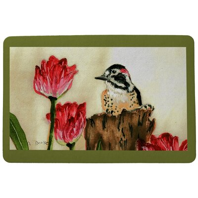 Garden Woodpecker Doormat Mat Size: Rectangle 30