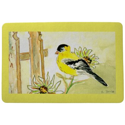 Garden Goldfinch Doormat Mat Size: Rectangle 18