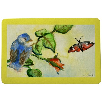 Garden Bird Doormat Size: Rectangle 30 x 50