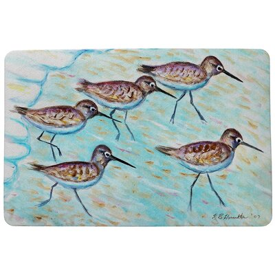 Coastal Sandpipers Doormat Mat Size: Rectangle 18