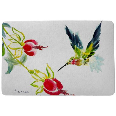 Garden Hummingbird Doormat Size: Rectangle 30 x 50