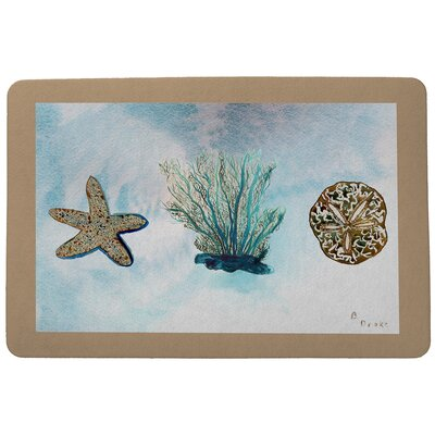 Coastal Coral Doormat Mat Size: Rectangle 18 x 26