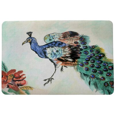 Garden Peacock Doormat Mat Size: Rectangle 18 x 26