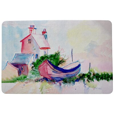 Boat and House Doormat Rug Size: 16 x 22