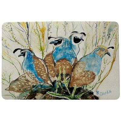 Garden Partridges Doormat Size: Rectangle 30 x 50