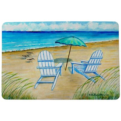 Garden Adirondack Chairs Doormat Mat Size: Rectangle 18 x 26