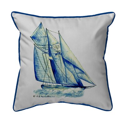 Coastal Sailboat Indoor/Outdoor Throw Pillow
